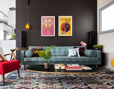 הסלון בפנטהאוס בנווה שאנן -