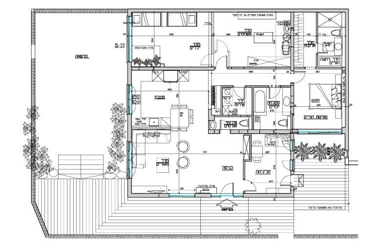 תכנית הבית לאחר השיפוץ