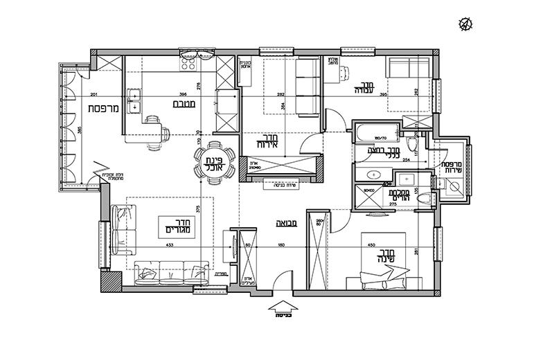 - תכנית הדירה