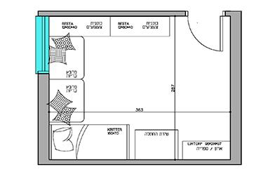 תכנון החדר עבור ילד אחד