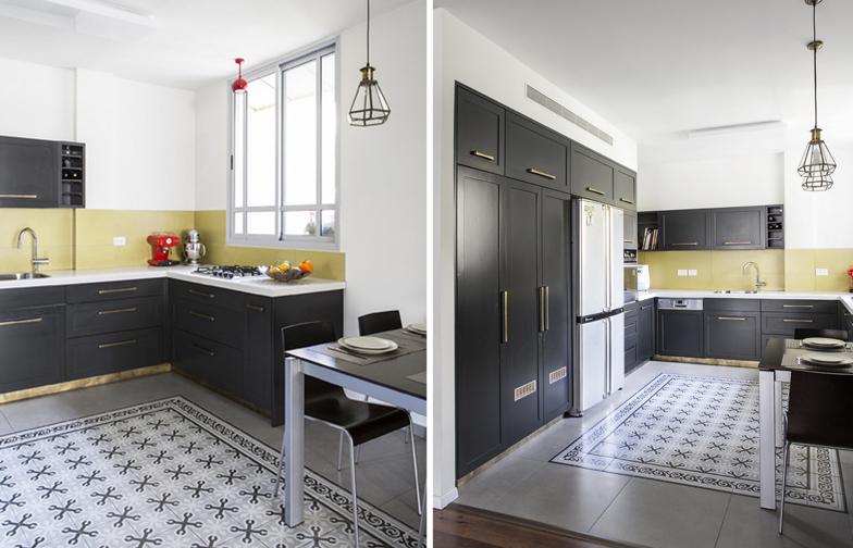 צילום: איתי בנית - המטבח השחור, כמו עוד פריטים שחורים בבית, עוזר להדגיש את האור ואת הנועזות של הדירה.