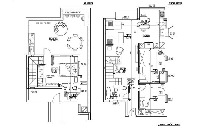תוכנית הדירה לאחר השיפוץ